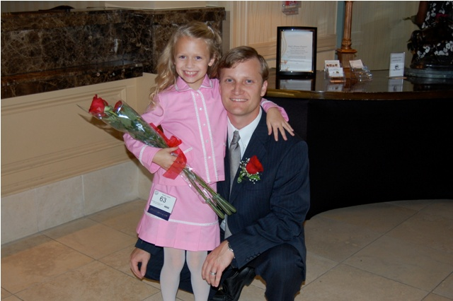 my dad and i at the 2009 tennesse national american miss pageant after