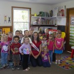 Emily Ramsey spending time with kids at her old preschool
