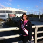Jennifer Mullins walking for Breast Cancer Research