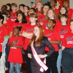 Hannah Reese working with D.A.R.E.