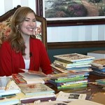 Nicole Flippo with books for Africa