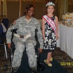 Cailee at the Wounded Warrior Transition Battalion