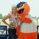 Megan Ebert, NC Teen Queen, at the Burlington Royals