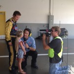 Faith Anne Yeley being interviewed by Speed TV