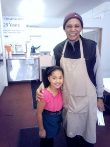 Aaniayh Burnett Miss Ky Princess Volunteering @ The Lord's Kitchen