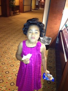 Aaniyah Burnett Getting ready before the 2013 State KY Pageant