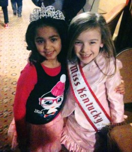 Aaniyah Burnett meeting the 2012 NAM KY Princess Alexis!!!