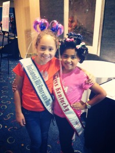 Miss Aaniyah 2013  KY Princess With 2012 All-American Miss Princess @ Nationals! Crazy Hair Day!