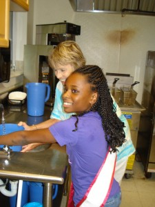 Miss North Carolina Pre-Teen-Jessica Johnson volunteering at Emanuel AME Church Benefit Concert luncheon