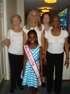 Miss North Carolina Pre-Teen-Jessica Johnson-with Ushers at Emanuel AME Benefit Concert