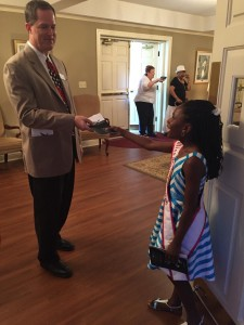 Miss North Carolina pre-Teen-Jessica Johnson-volunteering at Benefit Concert for Emanuel AME Church