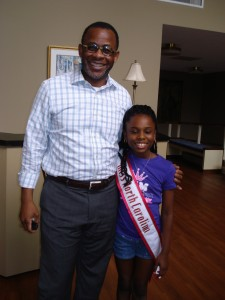 Miss North Carolina pre-Teen-Jessica Johnson with Mr. Lee Pringle producer of concert