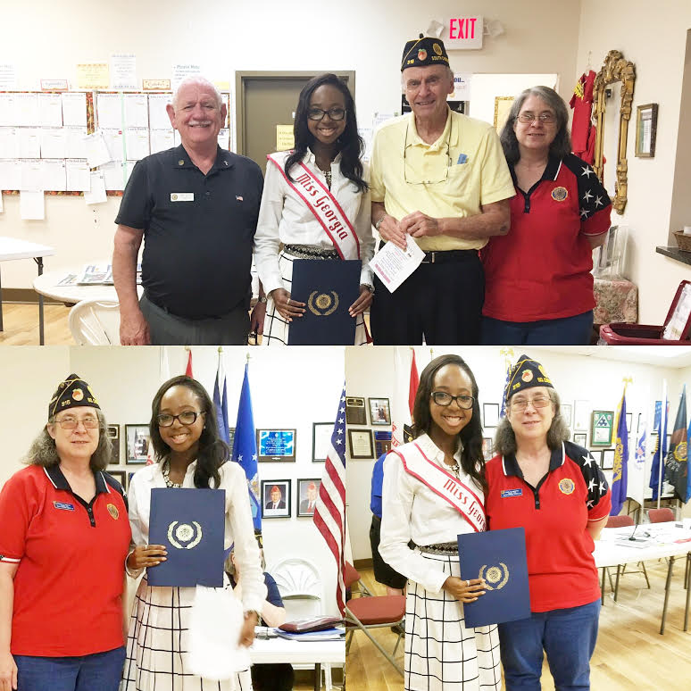 2016 Miss Georgia Teen Imani Johnson American Legion