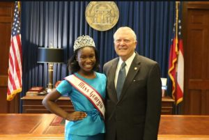 Damacia Howard and Govenor Nathan Deal