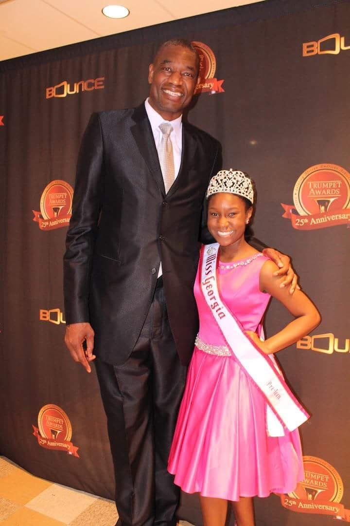 Miss Georgia Pre-Teen Damacia Howard and Dikembe Mutombo